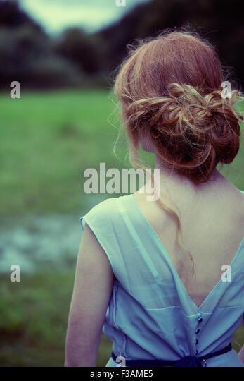 Beautiful ginger historical girl - Stock-Bilder