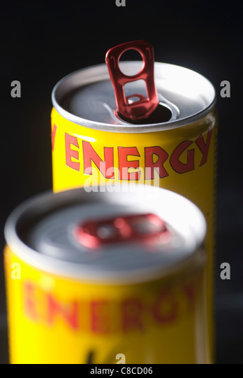 Can of energy drink - Stock-Bilder