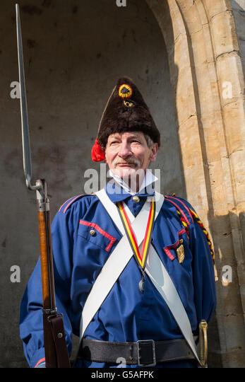 belgian volunteer soldier 1830 napoleonic war - Stock Image