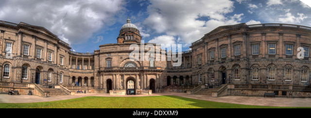 Panorama of South College Edinburgh University, Lothian, Scotland, UK - Stock Image