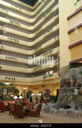 New Mexico Albuquerque Marriott Pyramid North hotel atrium W - Stock Image