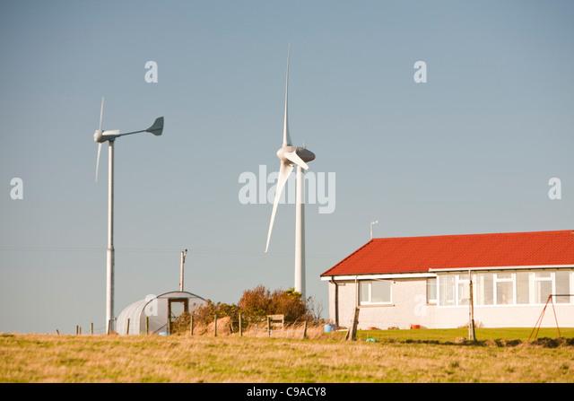 Wind Turbine Uk House Stock Photos Amp Wind Turbine Uk House