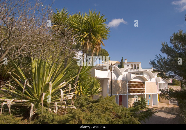 Mallorca Miro Foundation museum atelier outdoor - Stock Image