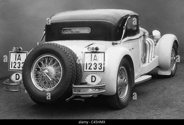 Mercedes-Benz SS convertible, 1932 - Stock-Bilder