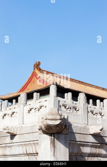 Stone Dragon balustrade post in the Forbidden City - Stock-Bilder