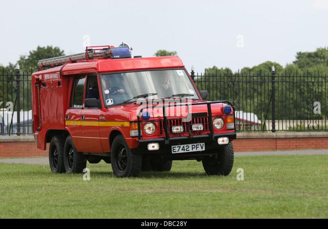 Vintage Emergency Services Display, Preston Park, Eaglescliffe, Teesside - Stock Image
