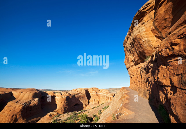 USA, Utah, Arches National Park, Path to Delicate Arch - Stock Image