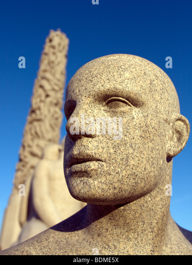 Sculpture in Vigeland Sculpture park, Frogner park, Oslo, Norway - Stock Image