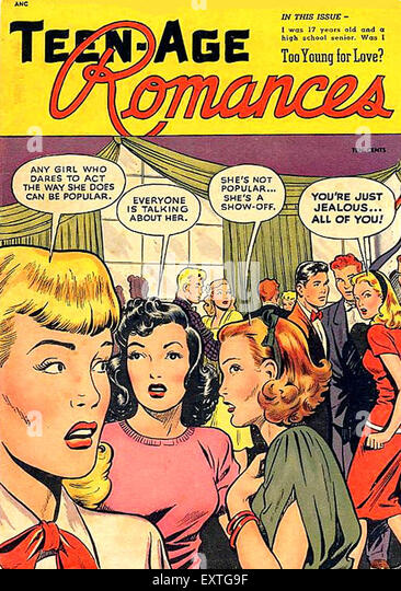 1950s USA Teen-Age Romances Comic/ Annual Cover - Stock Image