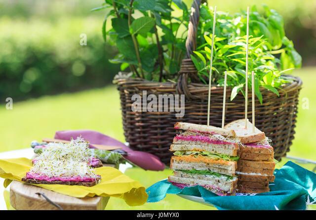 vegetarian snacks - Stock Image