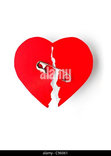 Mending a broken heart  conceptual image. - Stock-Bilder