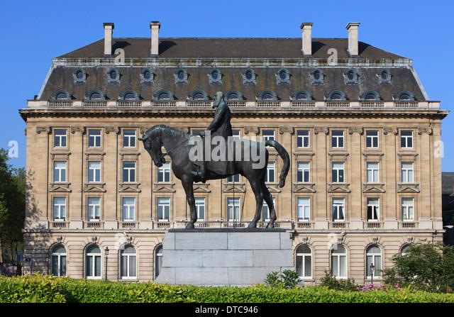 Monument to King Leopold II of Belgium in Brussels, Belgium - Stock-Bilder