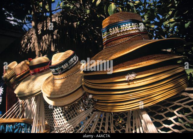 Souvenir Hats, San Jose del Cabo, Mexico - Stock Image