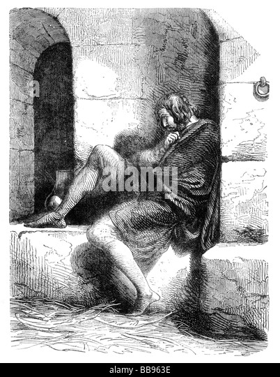 Richard Duke of Normandy imprisoned in Cardiff Castle by his brother William circa AD1106 - Stock Image