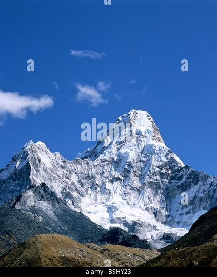 Mount Ama Dablam, 6856 metres, second peak 5563 metres, Khumbu, Himalayas, Nepal, South Asia - Stock-Bilder