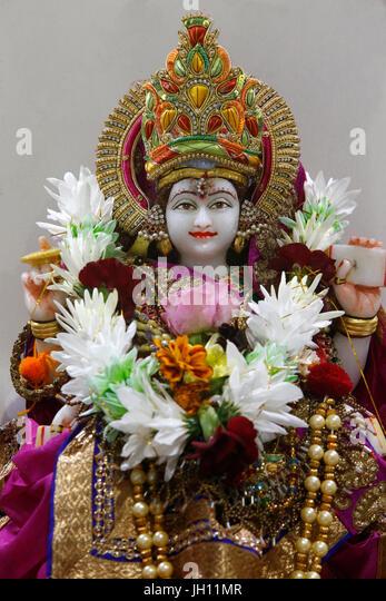 Sanatan Mandir hindu temple, Leicester. Gita mata murthi. United kingdom. - Stock Image