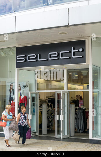 A branch of Select Fashion, a high street women's wear retailer. - Stock Image