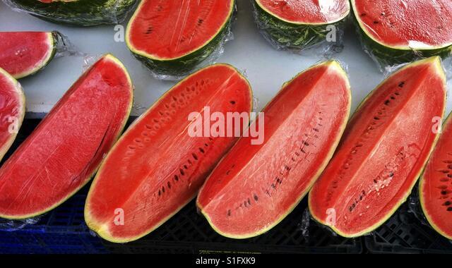 Watermelon for sale. - Stock-Bilder