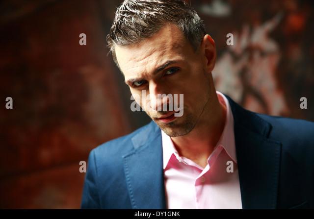 Portrait of a confident businessman - Stock Image