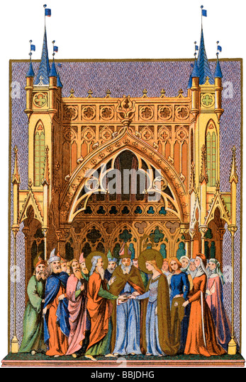 Marriage of the Virgin Mary - Stock Image