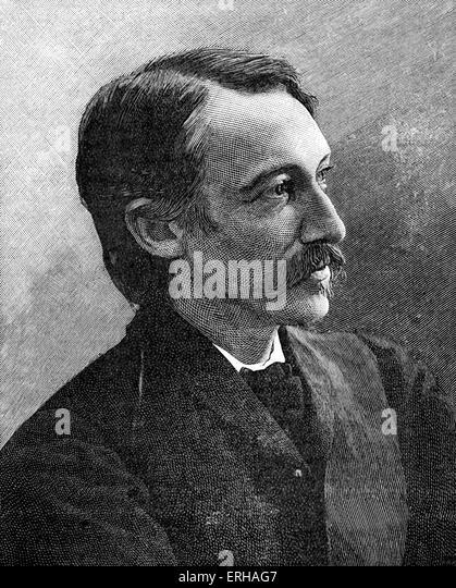 Robert Louis Balfour Stevenson (13 November 1850 ? 3 December 1894). Scottish novelist, poet, essayist, and travel - Stock-Bilder