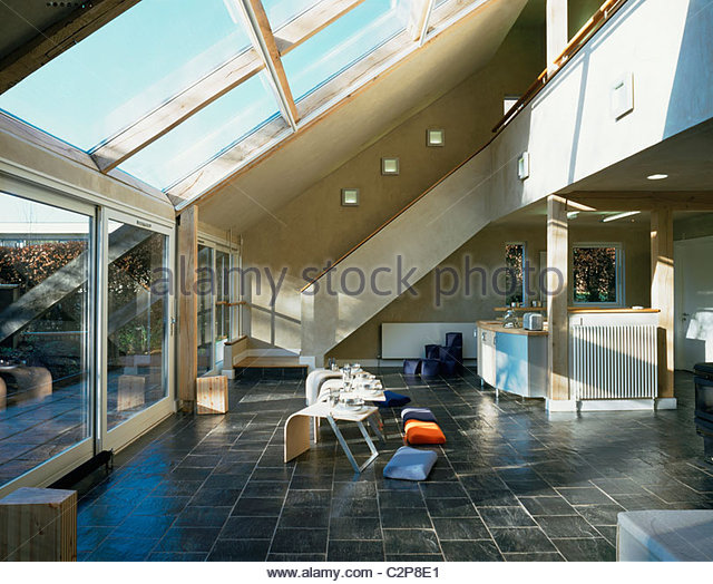 House for the Future, Cardiff, Wales. Cooking eating area. - Stock-Bilder