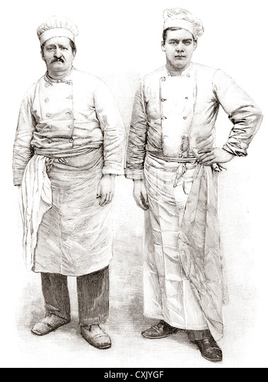 Two 19th century chefs. - Stock-Bilder