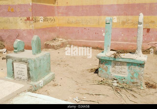 cairo muslim cemetery in egypt - Stock Image