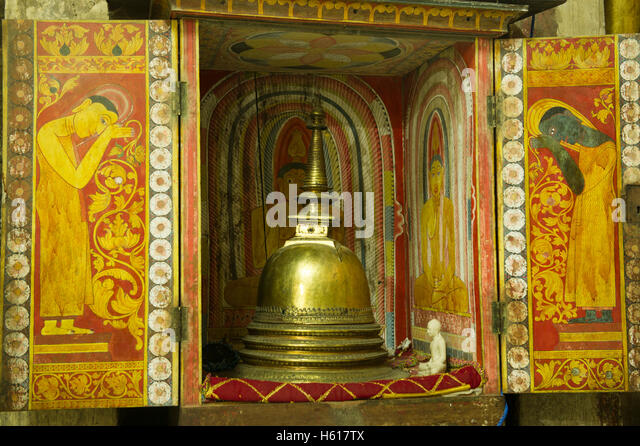 Antiquity at Gadaladeniya Temple, Kandy, Sri Lanka - Stock-Bilder