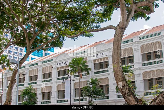 Raffles Hotel, Singapore. - Stock Image
