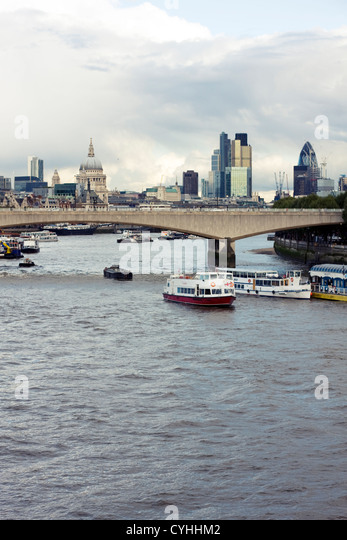 Waterloo Bridge, London, United Kingdom - Stock Image