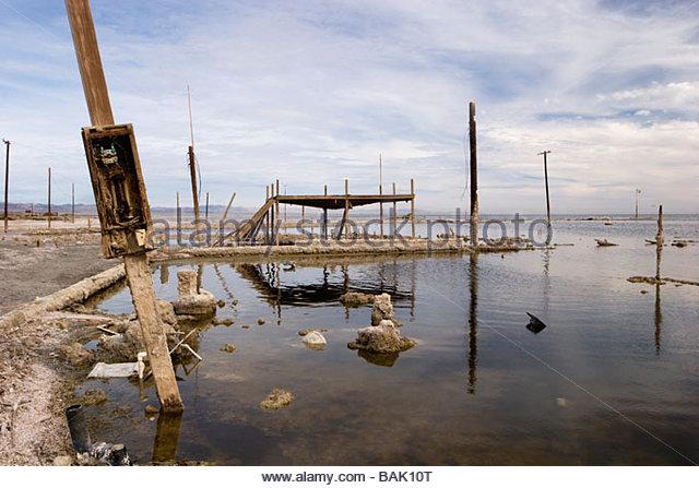 Bombay Beach Flooding California - Stock Image
