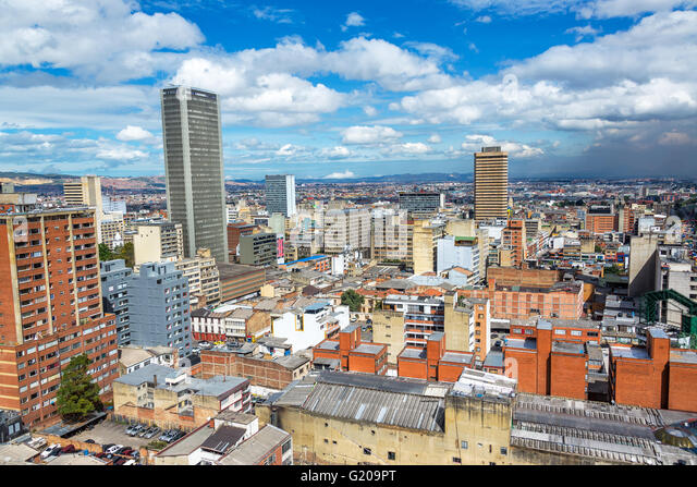 Cityscape view of downtown Bogota, Colombia - Stock Image