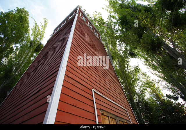 Villa Grimaldi, torture center, death tower, memorial, Santiago de Chile, Chile, South America - Stock Image