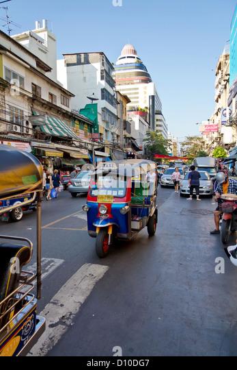 Colorful Tuk Tuk in Bangkok, Thailand - Stock Image