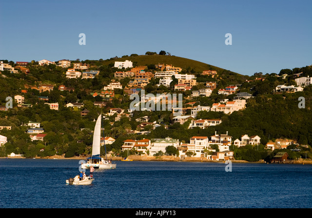 south africa garden route Knysna sailing ship - Stock Image