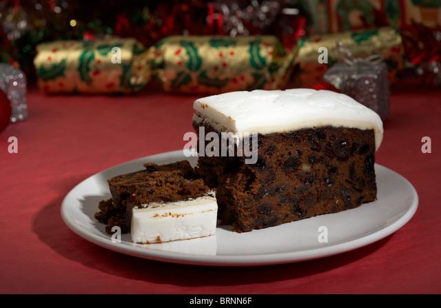 Iced Top Christmas Cake Slices