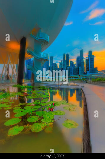Golden hour reflections - Stock Image