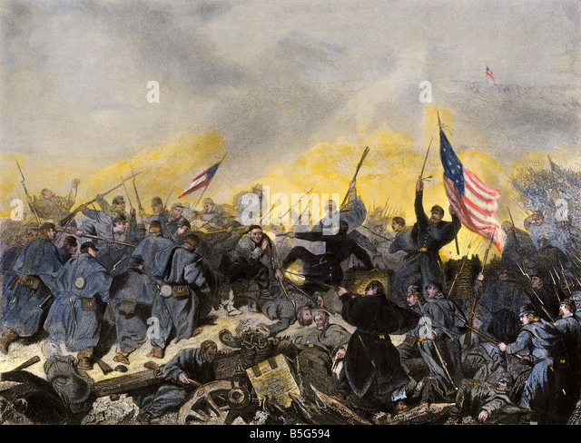 Capture of Fort Donelson Tennessee by Union forces under General U.S. Grant 1862 - Stock Image