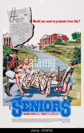 SENIORS, US poster art, 1978 - Stock Image