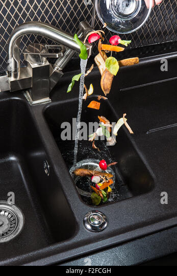 Food waste disposer machine for your kitchen. - Stock Image