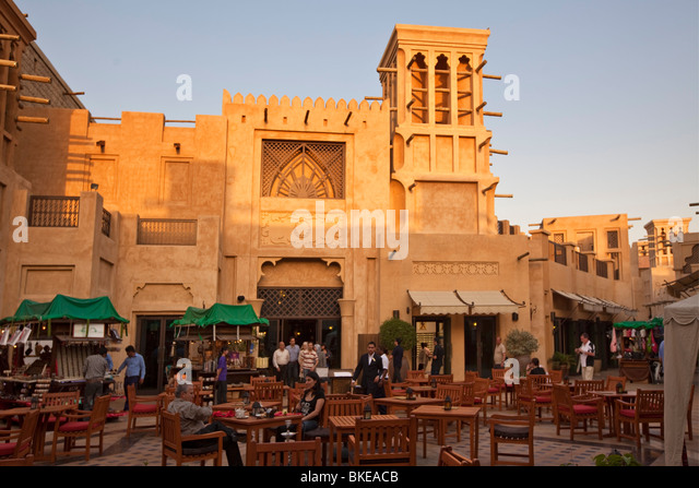 Medinat Jumeirah, arabian court, Dubai, United Arab Emirates - Stock Image