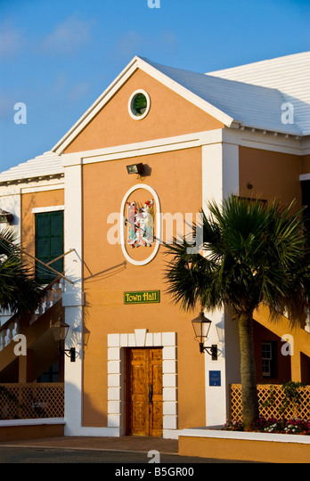 St George Town Hall 1782 Bermuda Kings Square tourist attraction - Stock Image