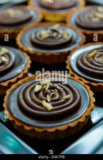 Rich chocolate tart - Stock-Bilder