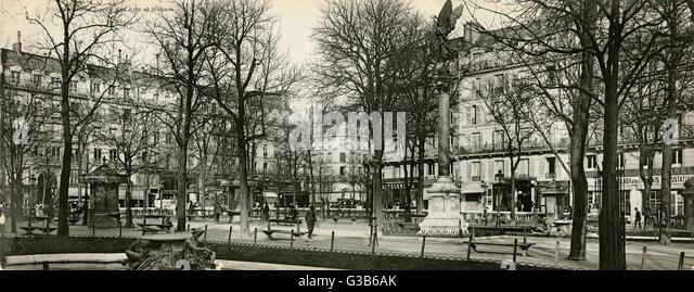 Paris:  Square des Arts et Metiers       Date: 1905 - Stock-Bilder