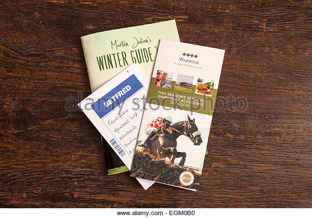 Horse Racing guides and betting slip - Stock Image