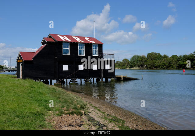 River Medina Newport Rowing Club Isle of Wight England UK - Stock Image