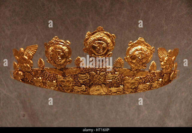Gold crown.  Culture: Roman.  Place of Origin:  Rome Credit Line: Werner Forman Archive, N.J. Saunde Artist: Werner - Stock-Bilder
