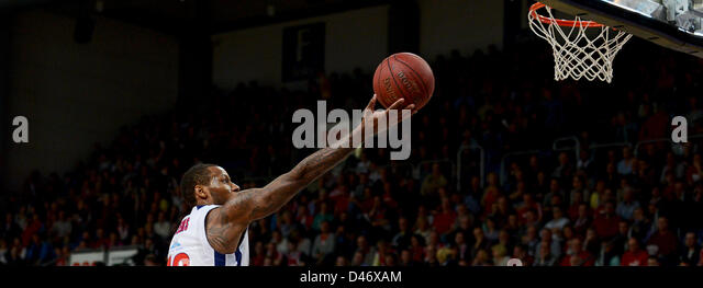 Moscow's  Sonny Weems in action during the Basketball Euroleague Group E  match between Brose Baskets Bamberg - Stock Image
