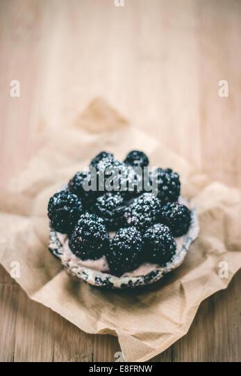 Blackberry tart - Stock Image